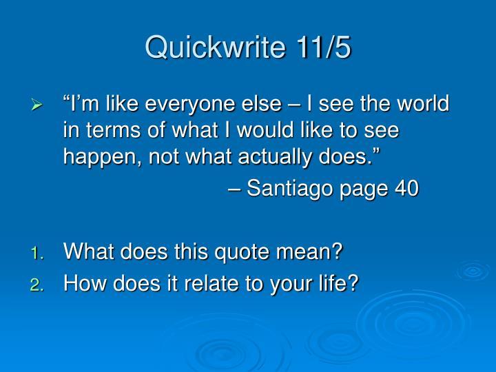 Quickwrite 11/5
