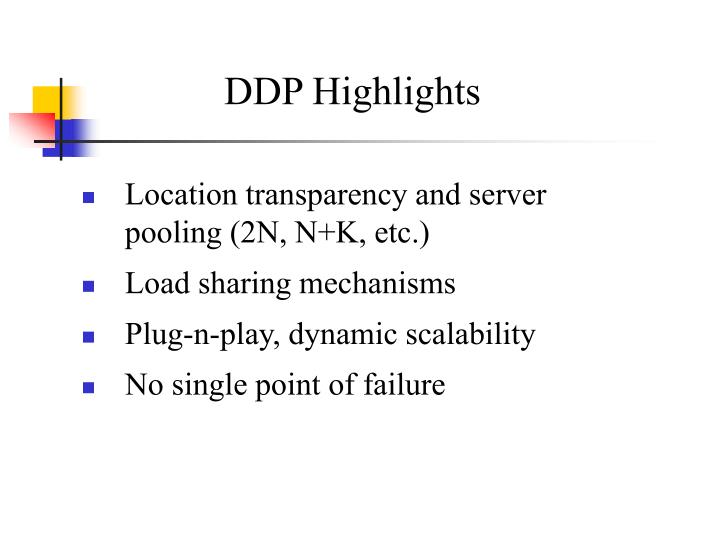 DDP Highlights