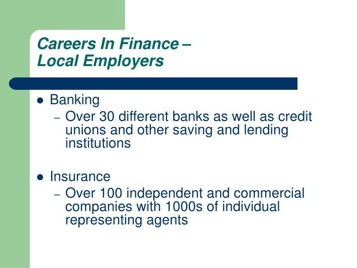 Careers In Finance –