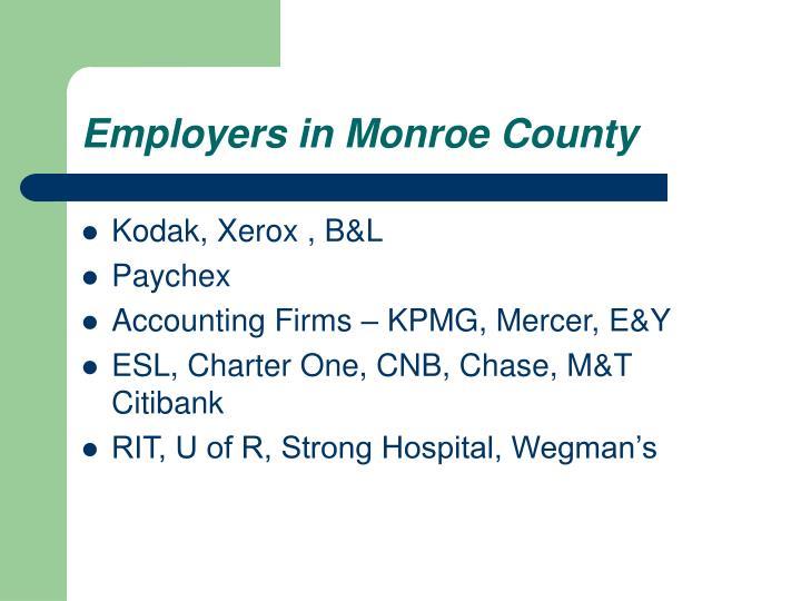 Employers in Monroe County