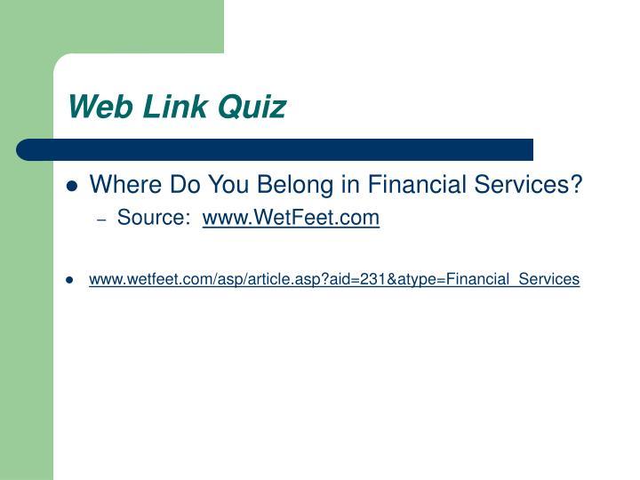 Web Link Quiz
