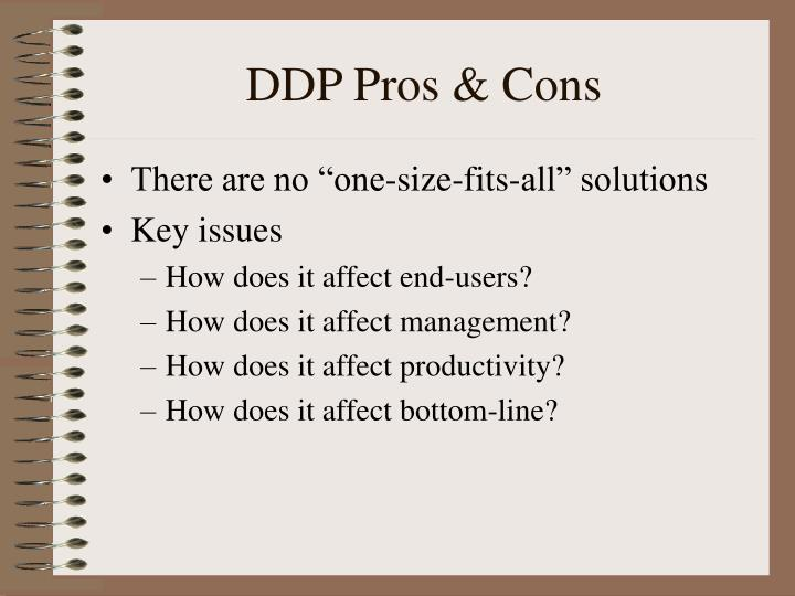 DDP Pros & Cons