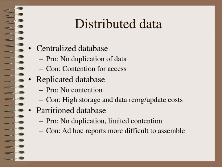 Distributed data