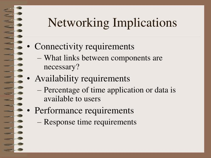 Networking Implications