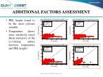 additional factors assessment