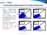 cmaq bias dependence on meteorology