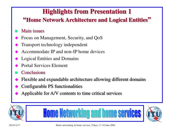 Highlights from Presentation 1
