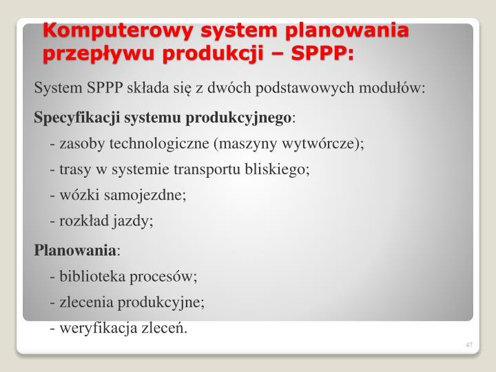 System SPPP składa się zdwóch podstawowych modułów: