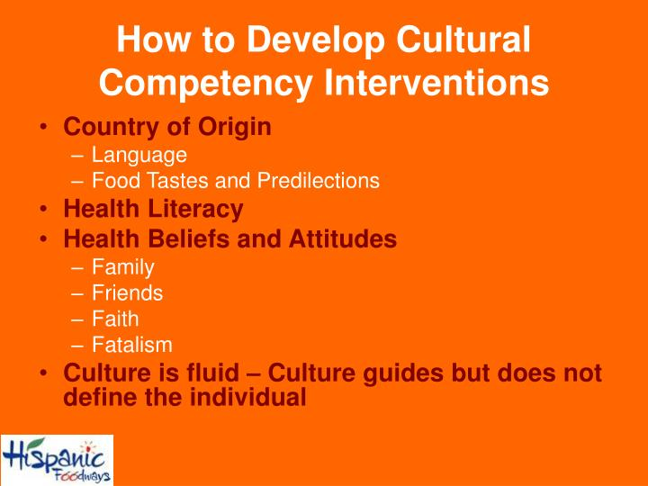 How to Develop Cultural Competency Interventions