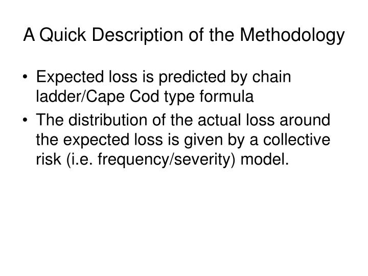 A Quick Description of the Methodology