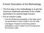 a quick description of the methodology1