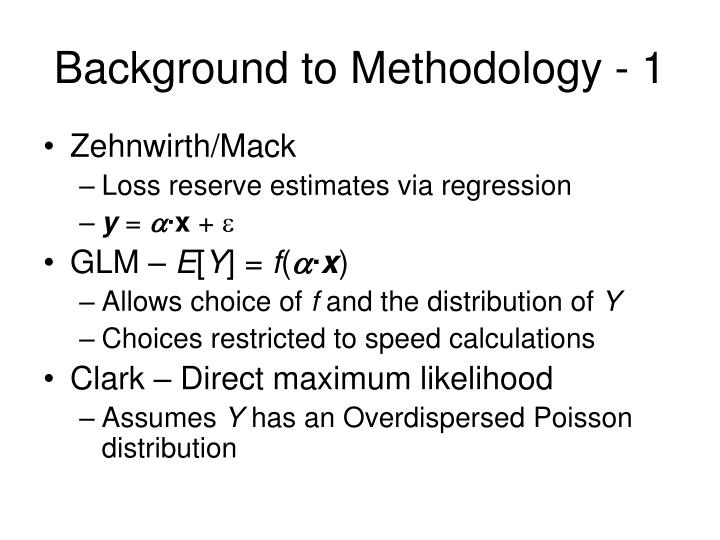 Background to methodology 1
