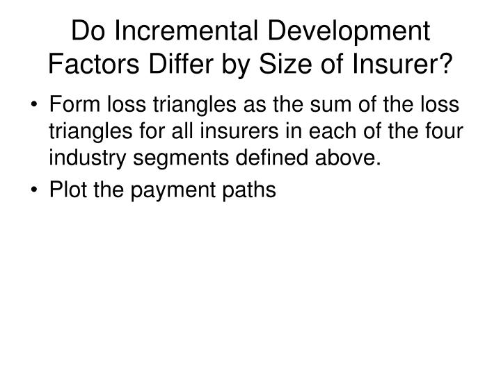 Do Incremental Development Factors Differ by Size of Insurer?
