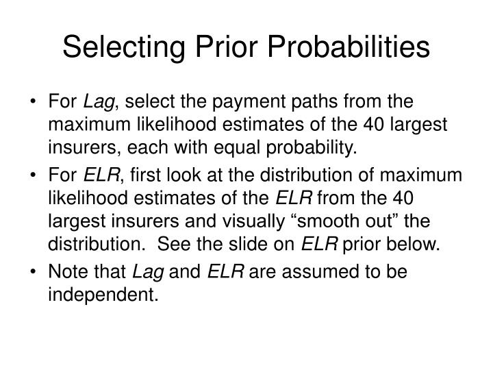 Selecting Prior Probabilities