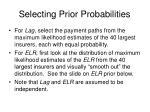 selecting prior probabilities