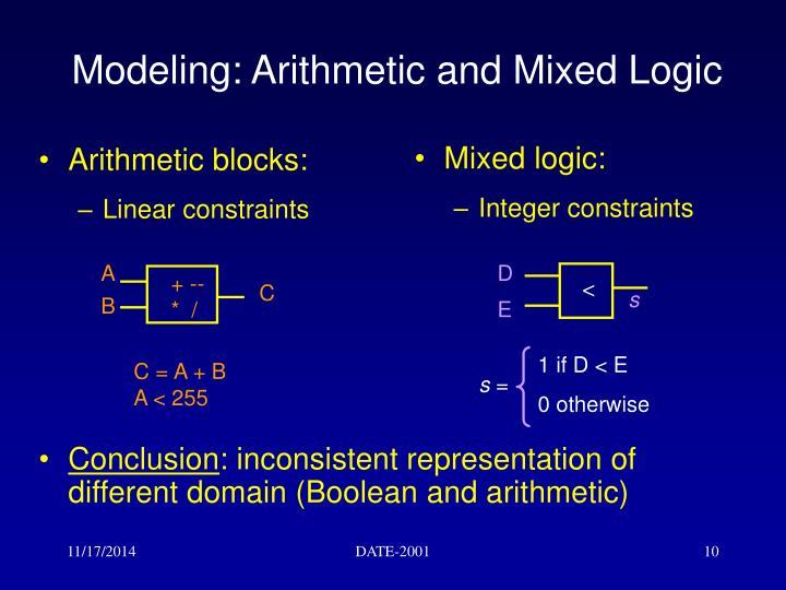 Arithmetic blocks: