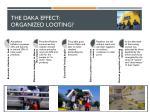 the daka effect organized looting
