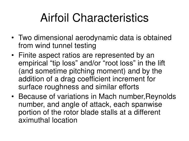 Airfoil Characteristics