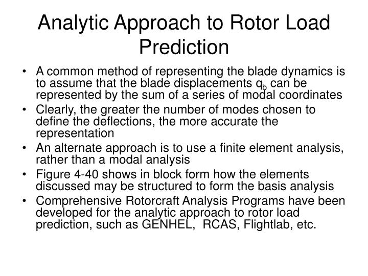 Analytic Approach to Rotor Load Prediction