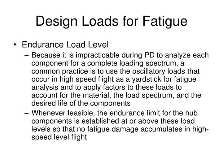 Design Loads for Fatigue