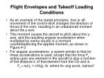 flight envelopes and takeoff loading conditions4