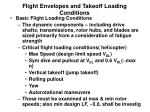 flight envelopes and takeoff loading conditions5