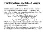 flight envelopes and takeoff loading conditions6