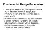 fundamental design parameters1