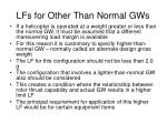 lfs for other than normal gws