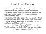 limit load factors