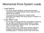 mechanical drive system loads1