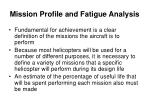mission profile and fatigue analysis1
