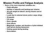 mission profile and fatigue analysis3