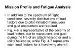 mission profile and fatigue analysis5