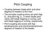 pitch coupling