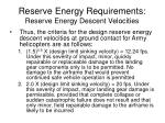 reserve energy requirements reserve energy descent velocities2