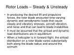 rotor loads steady unsteady