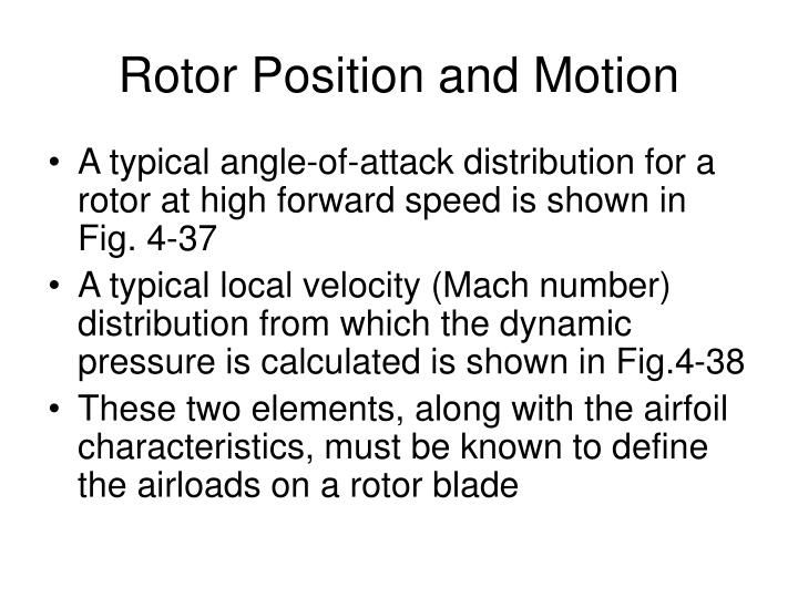 Rotor Position and Motion