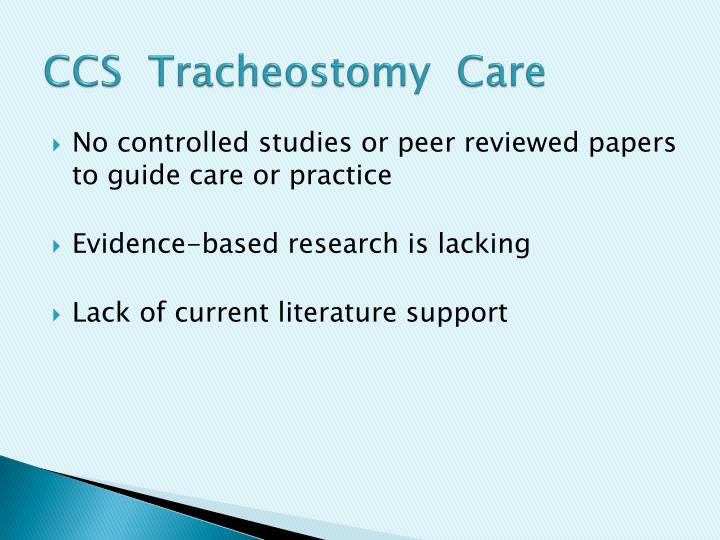 CCS  Tracheostomy  Care