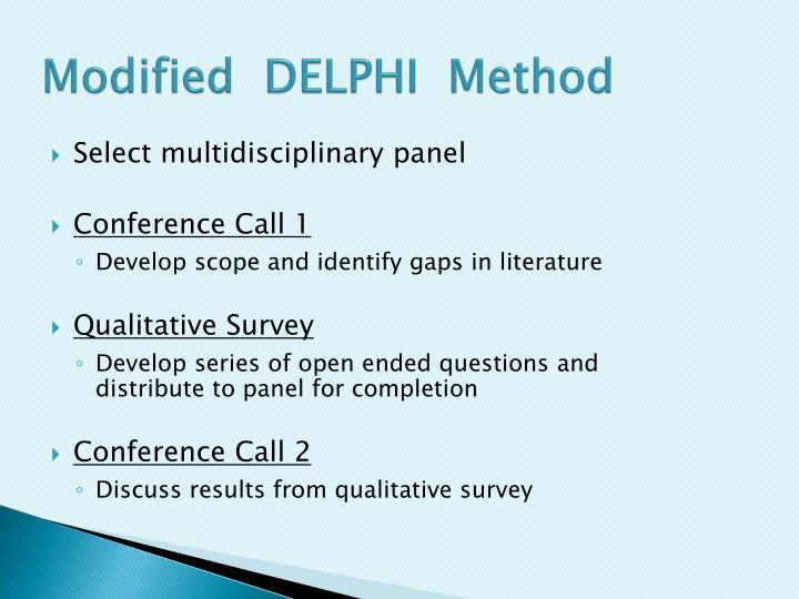 Modified  DELPHI  Method