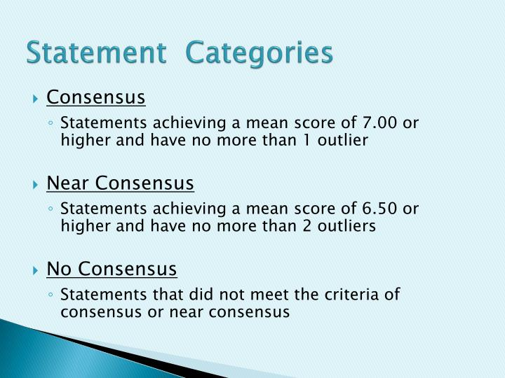 Statement  Categories