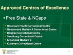 approved centres of excellence2