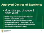 approved centres of excellence3