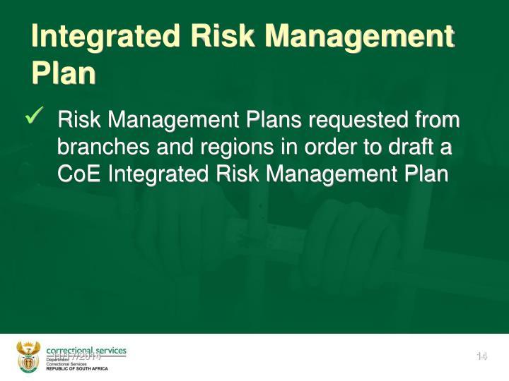 Integrated Risk Management  Plan