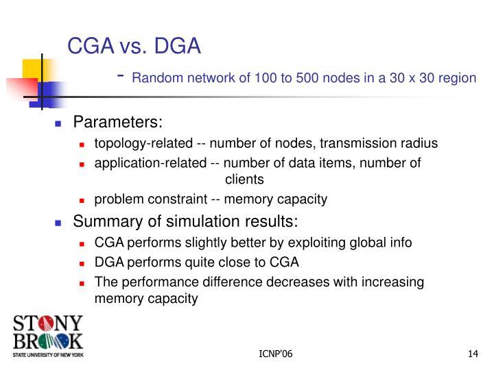 CGA vs. DGA