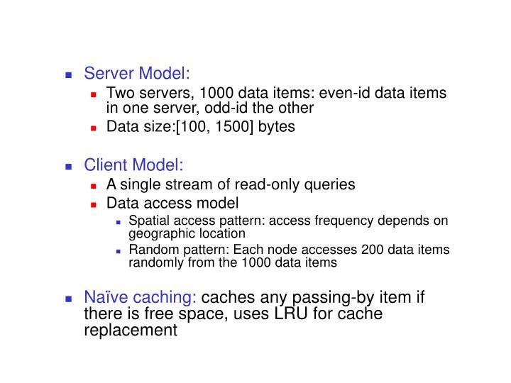 Server Model: