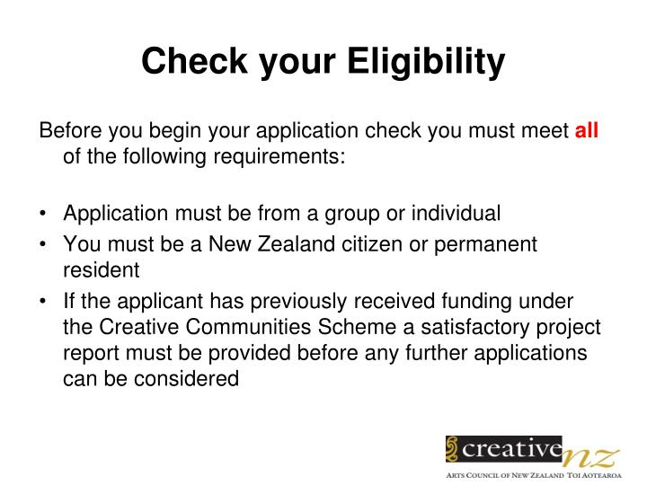 Check your eligibility