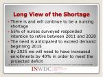 long view of the shortage