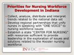 priorities for nursing workforce development in indiana