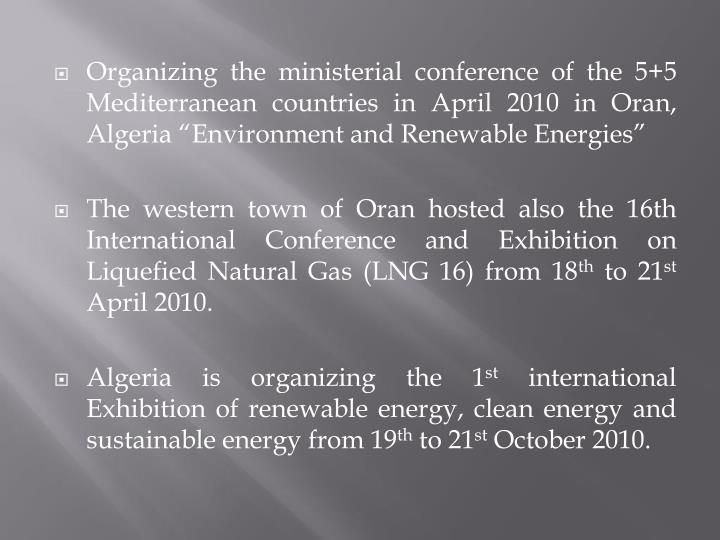 Organizing the ministerial conference of the 5+5 Mediterranean countries